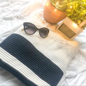Tea time vibes striped sweater || 🍵